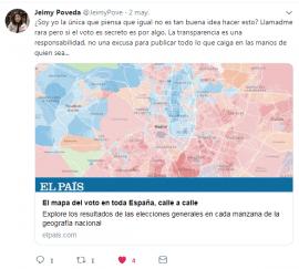 Tweet @JeimyPove distribución voto España el_pais